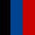 Preto azul e vermelho