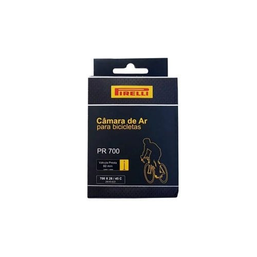 Câmara de Ar Pirelli PR-700 700 x28 / 45C Válvula Presta 60mm