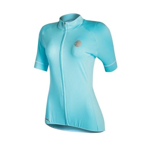 Camisa Ciclismo Feminina Blue Ice Mauro Ribeiro