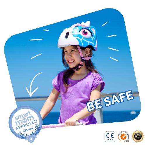 Capacete Infantil Giraffe Blue Crazy Safety