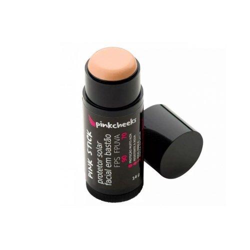 Protetor Solar Facial Pink Stick 15km Bege Médio 14g Pinkcheeks